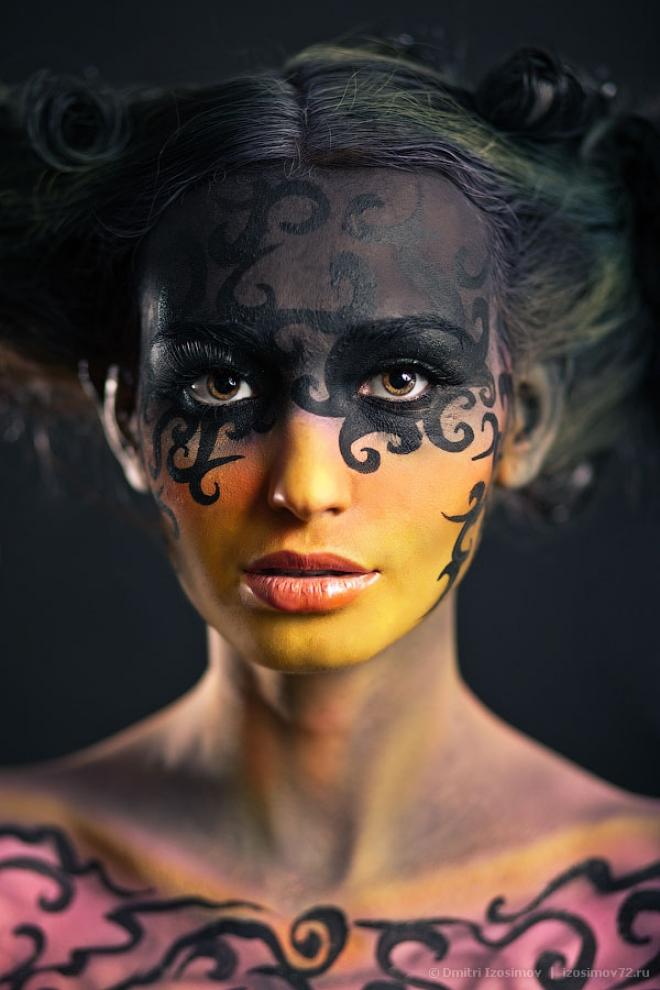 """Добавлен проект """"Inferno"""" в раздел """"Фотосессии"""". Автор рисунка: Анастасия Самохвалова. Модель: Анастасия Глухарева."""